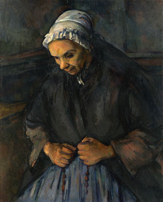 Paul Cezanne - An Old Woman with a Rosary. Part 5 National Gallery UK