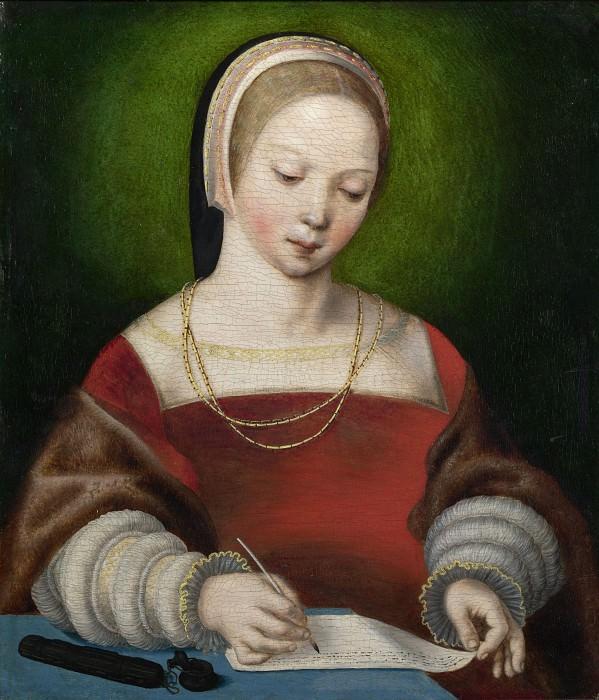 Нидерландский мастер, ок1520 - Пишущая девушка. Часть 5 Национальная галерея