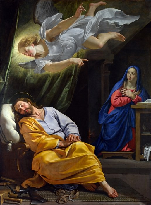 Philippe de Champaigne - The Dream of Saint Joseph. Part 5 National Gallery UK