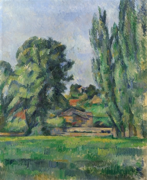 Paul Cezanne - Landscape with Poplars. Part 5 National Gallery UK