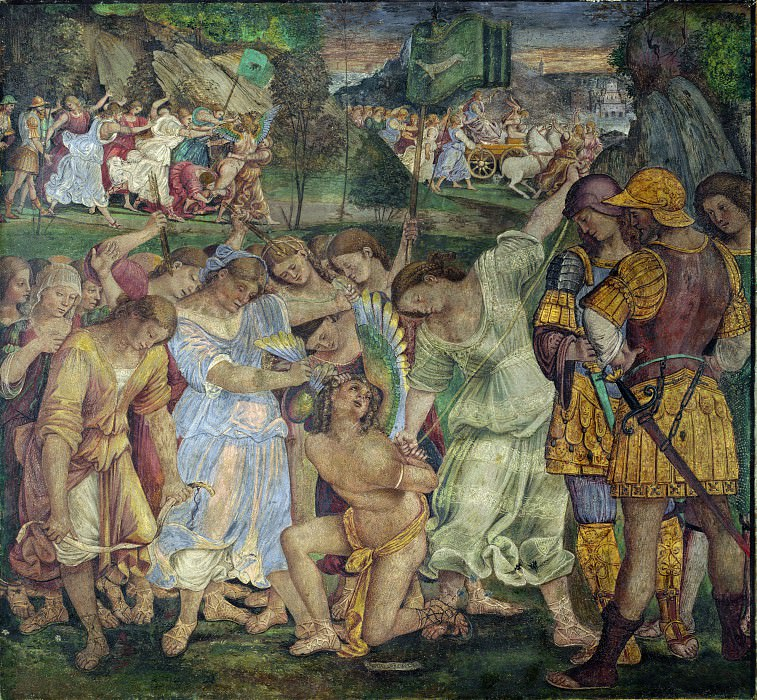 Luca Signorelli - The Triumph of Chastity - Love Disarmed and Bound. Part 5 National Gallery UK