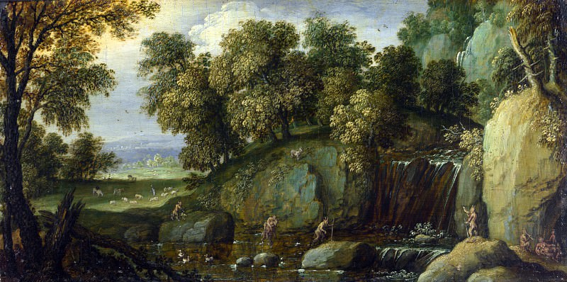 Marten Rijckaert - Landscape with Satyrs. Part 5 National Gallery UK
