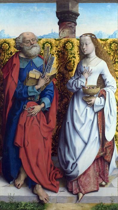 Master of the Saint Bartholomew Altarpiece - Saints Peter and Dorothy. Part 5 National Gallery UK
