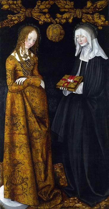 Lucas Cranach the Elder - Saints Christina and Ottilia. Part 5 National Gallery UK