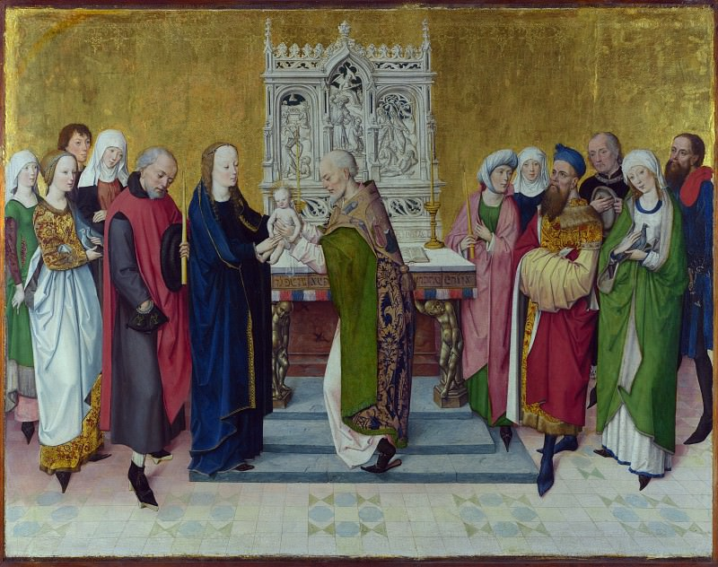 Master of the Life of the Virgin - The Presentation in the Temple. Part 5 National Gallery UK