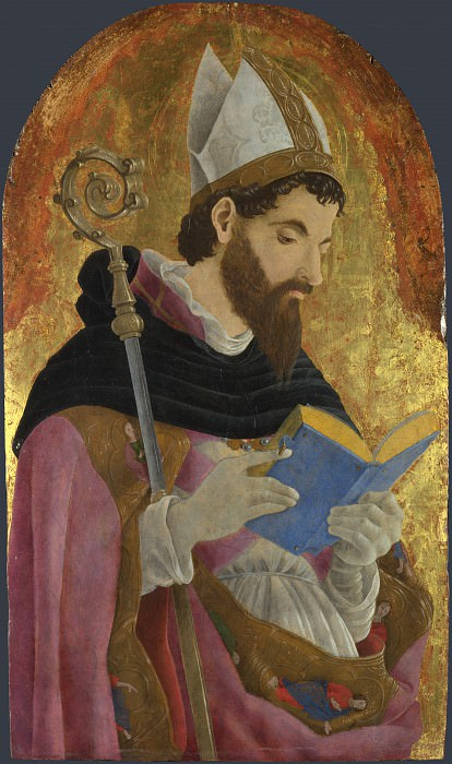 Marco Zoppo - A Bishop Saint, perhaps Saint Augustine. Part 5 National Gallery UK