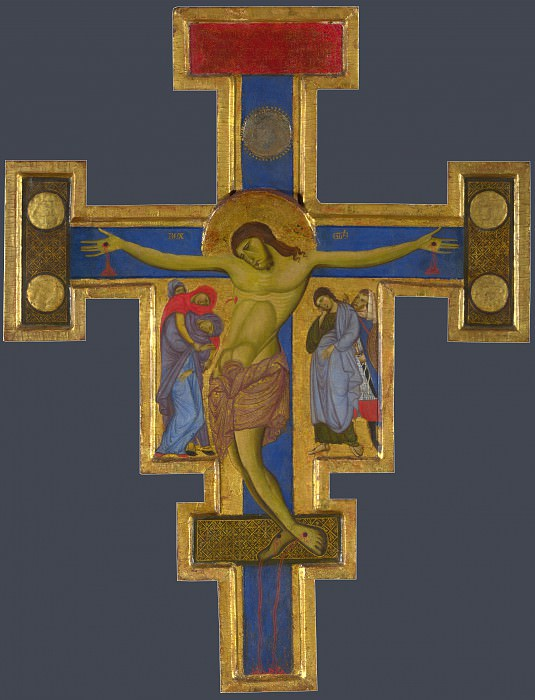 Master of Saint Francis - Crucifix. Part 5 National Gallery UK