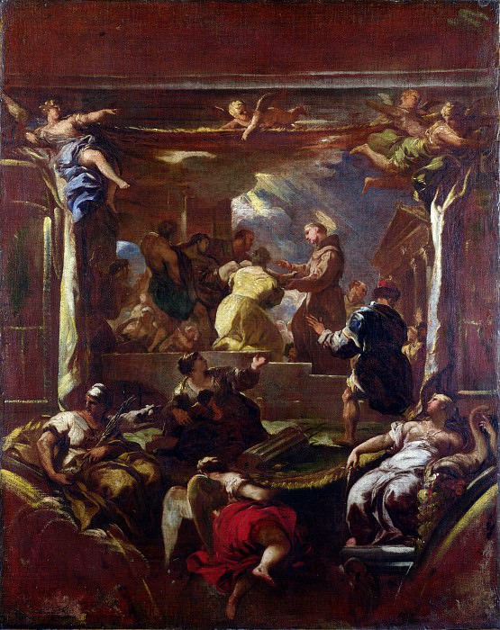Лука Джордано - Чудо возвращения ноги святым Антонием Падуанским. Часть 5 Национальная галерея