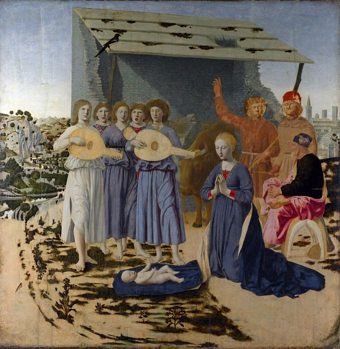Piero della Francesca - The Nativity. Part 5 National Gallery UK