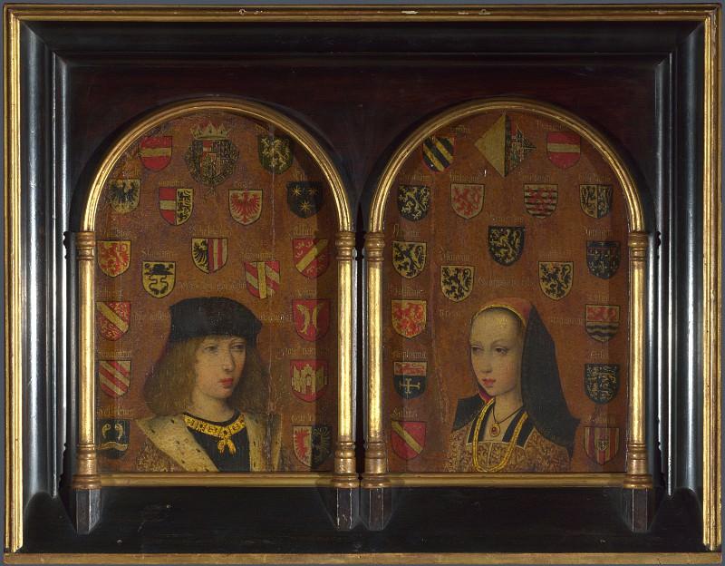 Pieter van Coninxloo - Diptych - Philip the Handsome and Margaret of Austria. Part 5 National Gallery UK