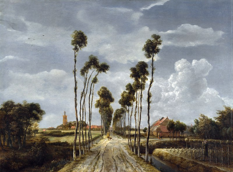 Meindert Hobbema - The Avenue at Middelharnis. Part 5 National Gallery UK