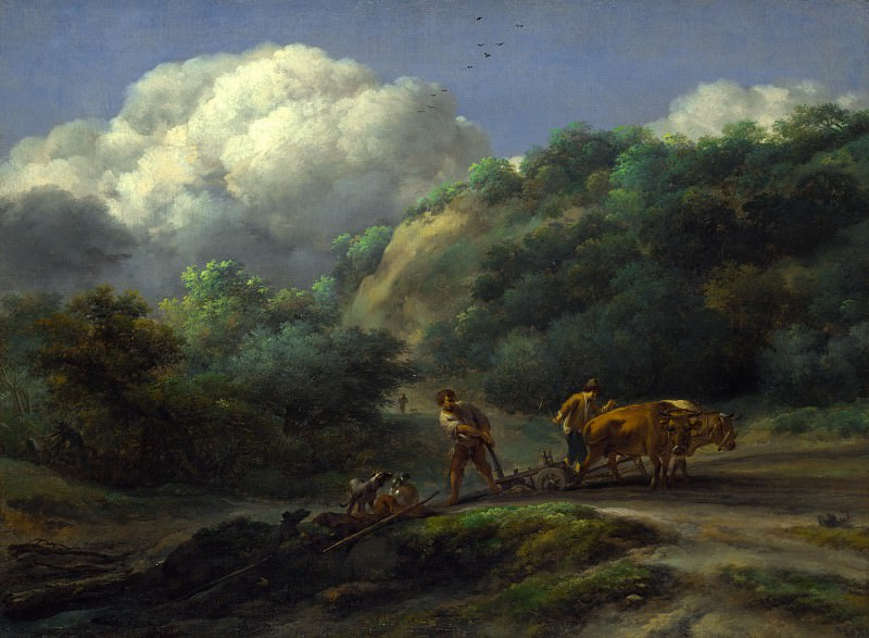 Николас Берхем - Пахари в пейзаже. Часть 5 Национальная галерея