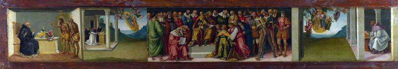 Есфирь и жизнь святого Иеронима (пределла алтаря). Лука Синьорелли