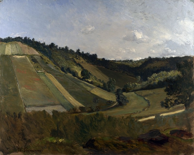 Philippe Rousseau - A Valley. Part 5 National Gallery UK