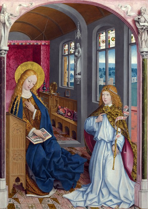 Master of Liesborn - The Annunciation. Part 5 National Gallery UK