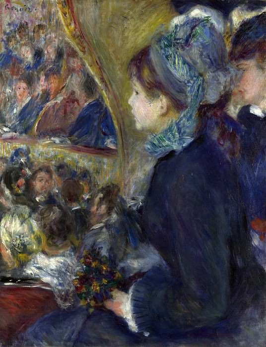 Pierre-Auguste Renoir - At the Theatre (La Premiere Sortie). Part 5 National Gallery UK