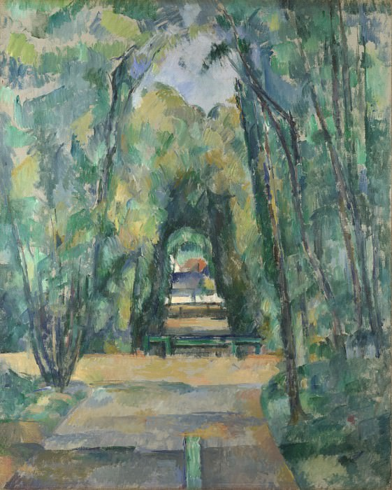 Paul Cezanne - Avenue at Chantilly. Part 5 National Gallery UK