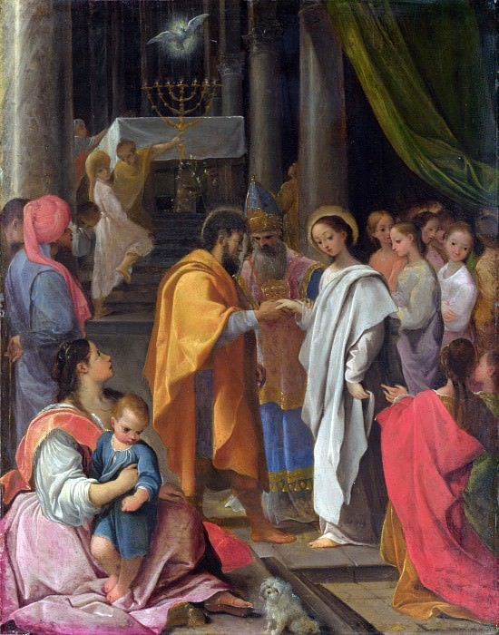 Ludovico Carracci - The Marriage of the Virgin. Part 5 National Gallery UK