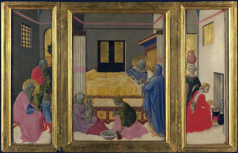 Мастер Оссерванца - Рождество Марии. Часть 5 Национальная галерея