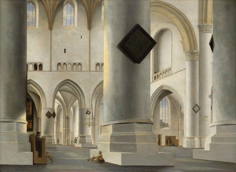 Pieter Saenredam - The Interior of the Grote Kerk at Haarlem. Part 5 National Gallery UK