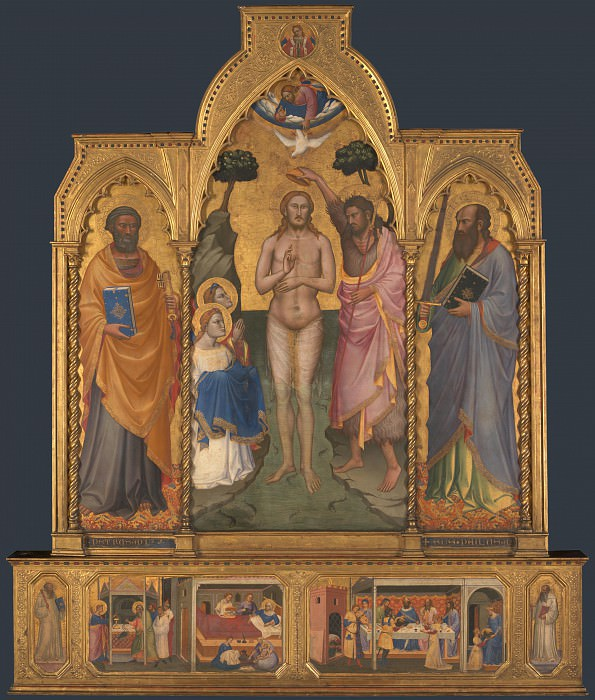 Niccolo di Pietro Gerini - Baptism Altarpiece. Part 5 National Gallery UK
