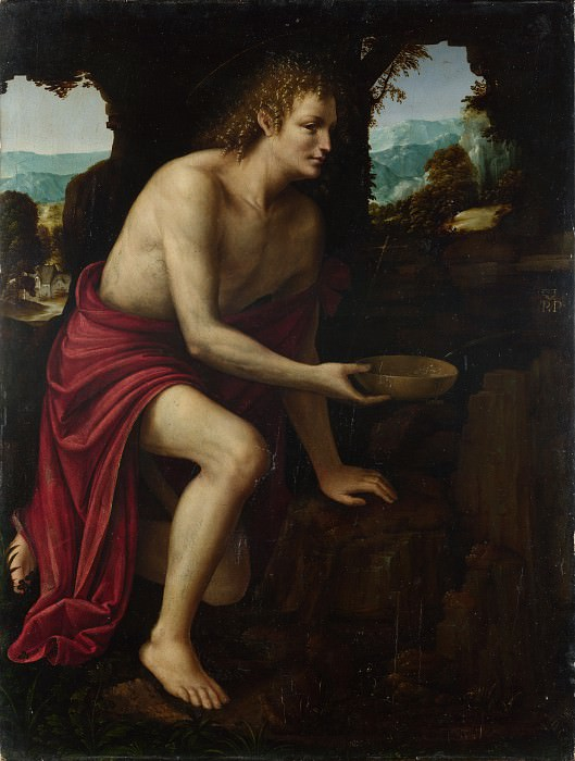 Martino Piazza - Saint John the Baptist in the Desert. Part 5 National Gallery UK