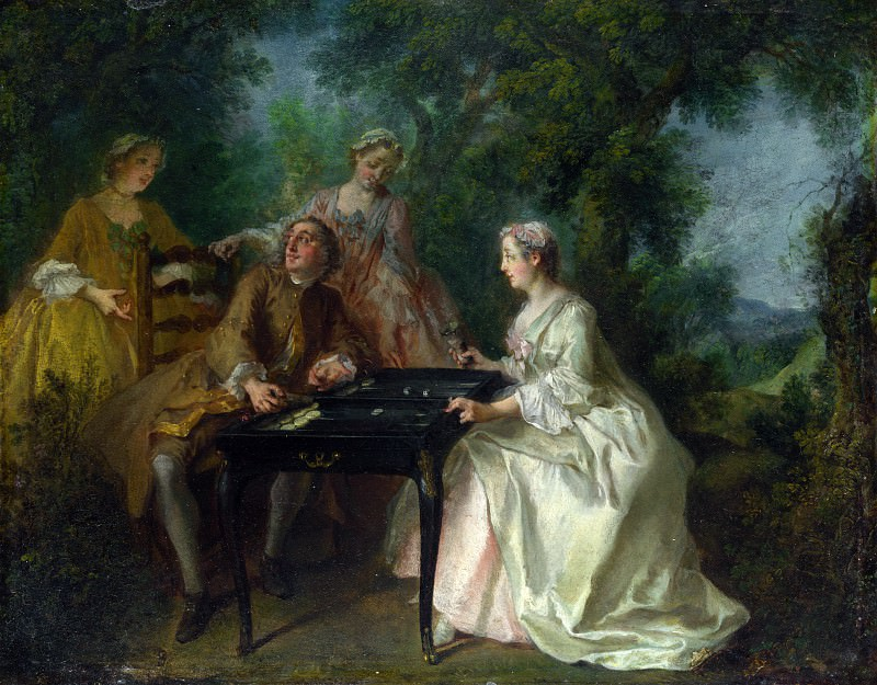 Nicolas Lancret - The Four Times of Day - Afternoon. Part 5 National Gallery UK