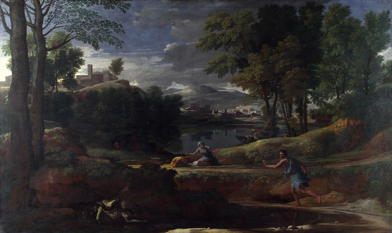 Nicolas Poussin - Landscape with a Man killed by a Snake. Part 5 National Gallery UK