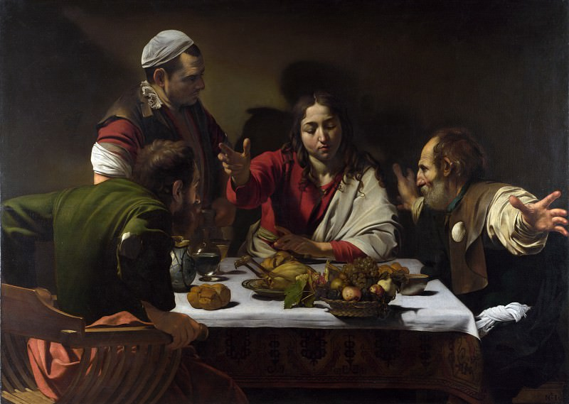 Michelangelo Merisi da Caravaggio - The Supper at Emmaus. Part 5 National Gallery UK