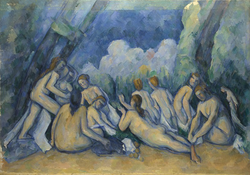 Paul Cezanne - Bathers (Les Grandes Baigneuses). Part 5 National Gallery UK