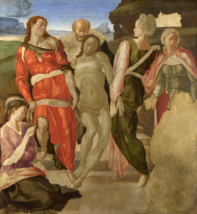 Michelangelo - The Entombment. Part 5 National Gallery UK