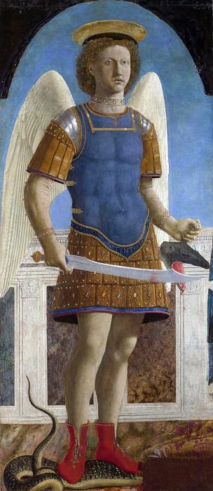 Piero della Francesca - Saint Michael. Part 5 National Gallery UK