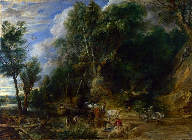 The Watering Place. Peter Paul Rubens
