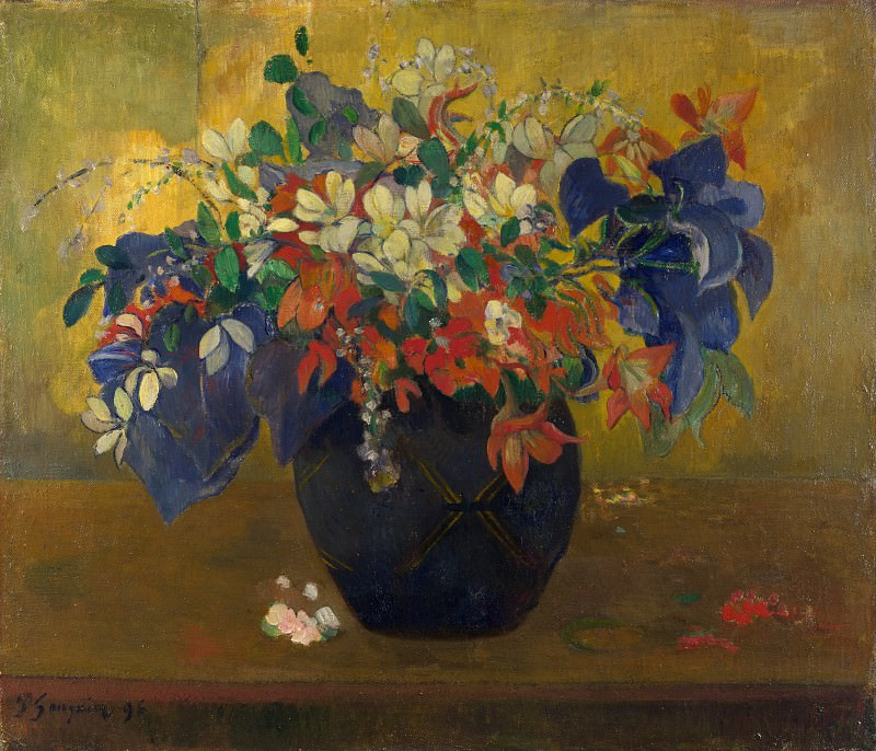 Paul Gauguin - A Vase of Flowers. Part 5 National Gallery UK
