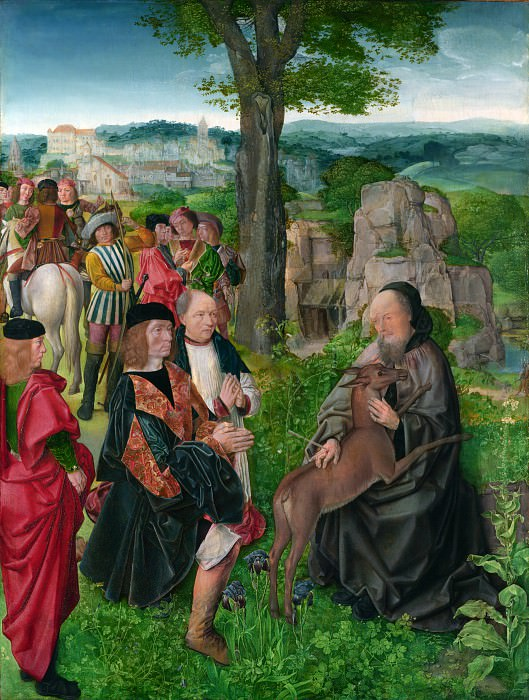Master of Saint Giles - Saint Giles and the Hind. Part 5 National Gallery UK