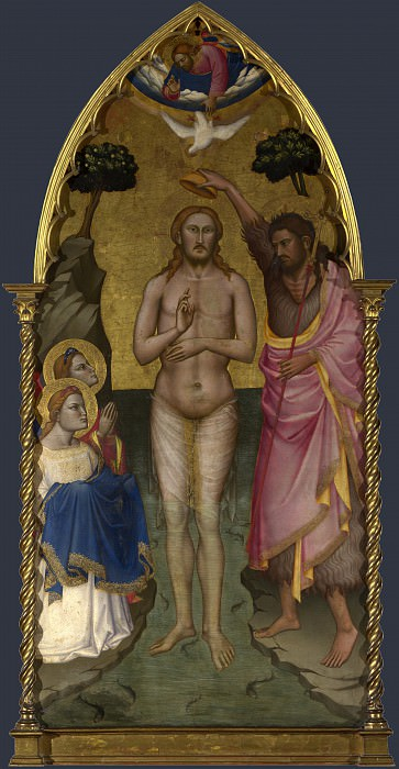 Niccolo di Pietro Gerini - The Baptism of Christ - Main Tier Central Panel. Part 5 National Gallery UK