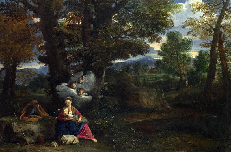 Pier Francesco Mola - The Rest on the Flight into Egypt. Part 5 National Gallery UK