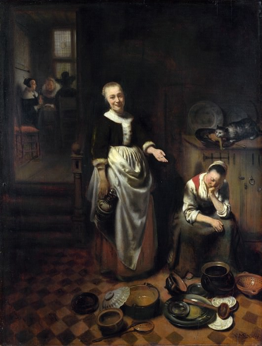 Nicolaes Maes - The Idle Servant. Part 5 National Gallery UK
