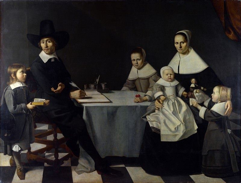 Michiel Nouts - A Family Group. Part 5 National Gallery UK