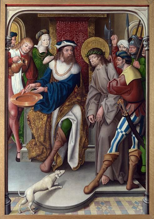 Master of Cappenberg (Jan Baegert) - Christ before Pilate. Part 5 National Gallery UK