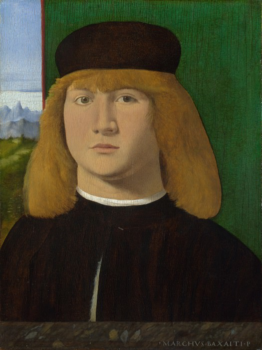 Marco Basaiti - Portrait of a Young Man. Part 5 National Gallery UK