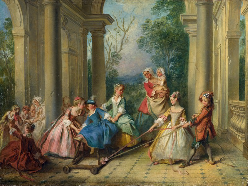 Nicolas Lancret - The Four Ages of Man - Childhood. Part 5 National Gallery UK