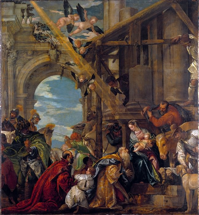 Paolo Veronese - The Adoration of the Kings. Part 5 National Gallery UK