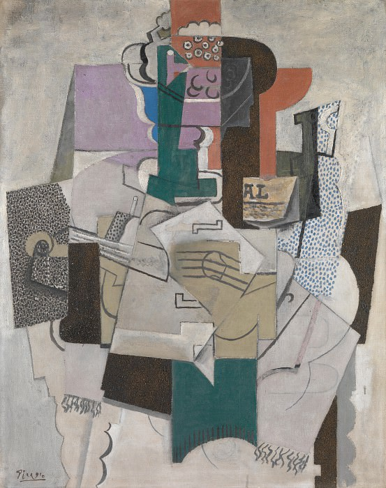 Pablo Picasso - Fruit Dish, Bottle and Violin. Part 5 National Gallery UK