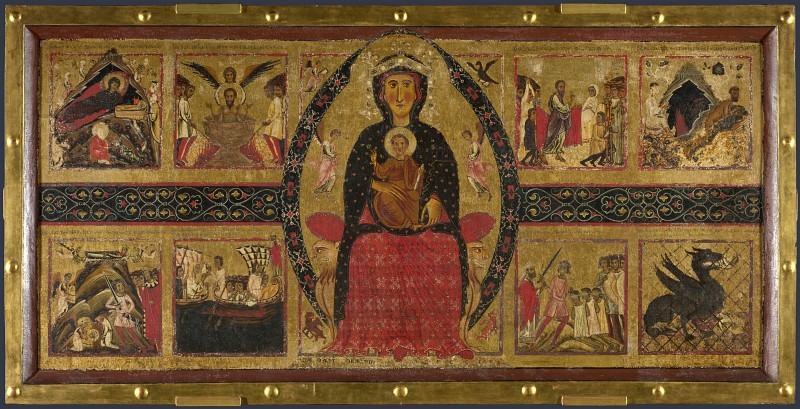 Margaritone of Arezzo - The Virgin and Child Enthroned, with Narrative Scenes. Part 5 National Gallery UK