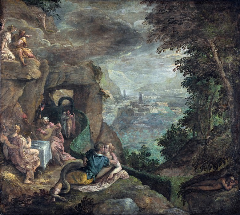 Paolo Fiammingo - Landscape with a Scene of Enchantment. Part 5 National Gallery UK