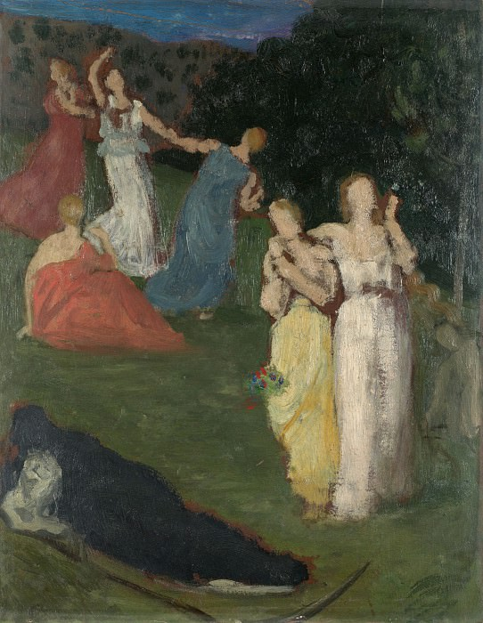 Pierre-Cecile Puvis de Chavannes - Death and the Maidens. Part 5 National Gallery UK