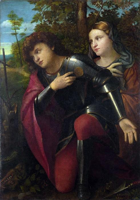 Palma Vecchio - Saint George and a Female Saint. Part 5 National Gallery UK