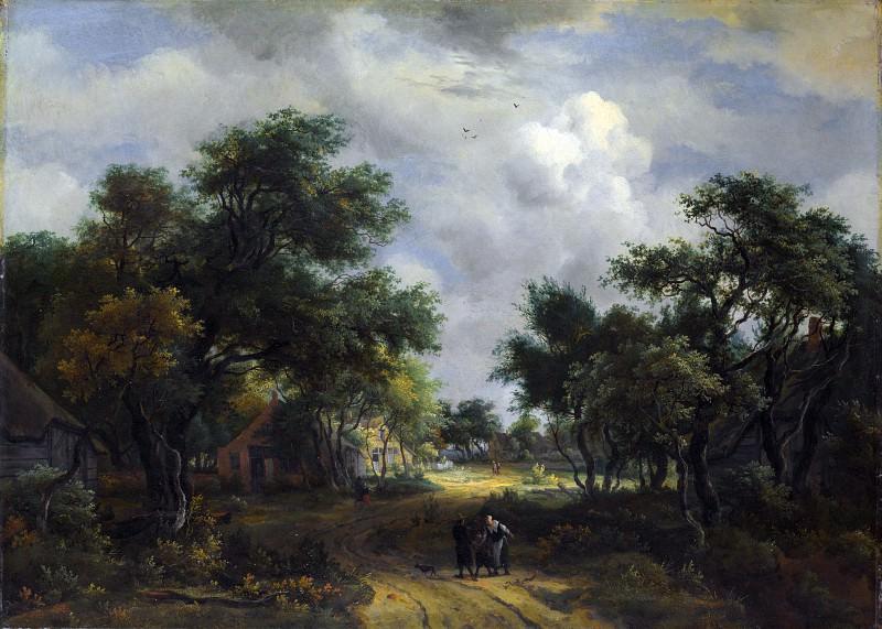 Мейндерт Хоббема - Пейзаж с сельской дорогой. Часть 5 Национальная галерея