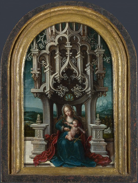 Netherlandish - The Virgin and Child Enthroned. Part 5 National Gallery UK